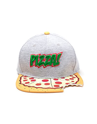 Teenage Mutant Ninja Turtles Hat (Teenage Mutant Ninja Turtles Pizza Bite Snapback Baseball Cap - One Size)
