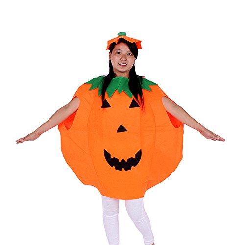 [Unisex Halloween Orange Pumpkin Costume for Adult Cospaly Party Fnacy Dress] (Adult Pumpkin Halloween Costumes)
