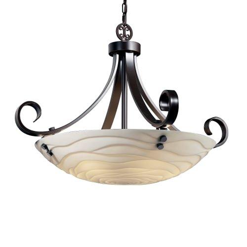 Justice Design Group Lighting Pna-9742-35-Wave-Dbrz-F1-LED5-5000 Porcelina-Scrolls w/Finials 31