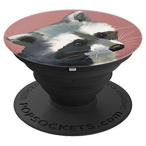 Cute Raccoon Watercolor Painting Animal Design Funny Gift - PopSockets Grip and Stand for Phones and Tablets