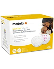 Medela Safe & Dry Ultra Thin Disposable Nursing Pads, 120 Count Breast Pads for Breastfeeding, Leakproof Design, Slender and Contoured for Optimal Fit and Discretion
