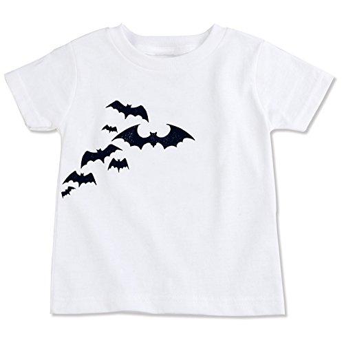 (The Spunky Stork Flying Bats Halloween Organic Cotton Toddler T Shirt (4T))