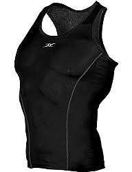 HASLRA 4-Way Stretch Baselayer Cool Feel Sleeveless T-Shirt