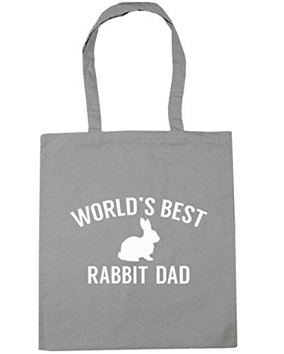 HippoWarehouse del mundo mejor papá de conejo bolsa de la compra bolsa de playa 42cm x38cm, 10litros gris claro