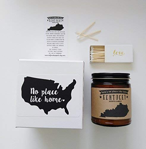 West Virginia Scented Candle State Candle Gift No Place Like Home Thinking of You Holiday Gift Christmas Gift