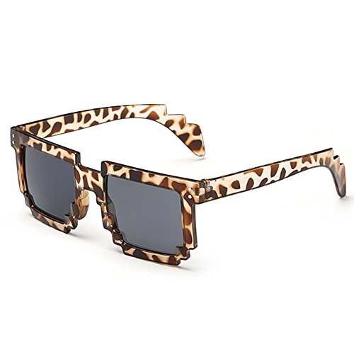 My.Monkey 2016 Fashion Personality Mosaic Style Party Sunglasses(Leopard - Price In 3d India Spectacles