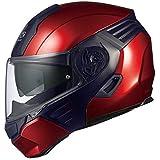 オージーケーカブト(OGK KABUTO)バイクヘルメット システム KAZAMI シャイニーレッド/ブラックKAZAMI L (頭囲 59cm~60cm)