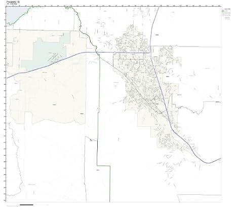 Pocatello Zip Code Map.Amazon Com Zip Code Wall Map Of Pocatello Id Zip Code Map Not