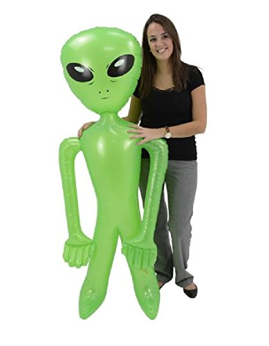 [Giant Jumbo Green Alien Inflate Party Favor (1)] (1980s Movie Character Costumes)
