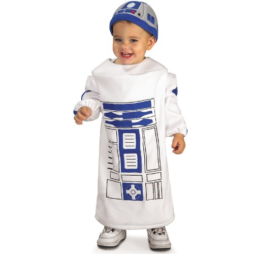 Star Wars Baby Bunting R2D2 Costume, White, 12-24 Months