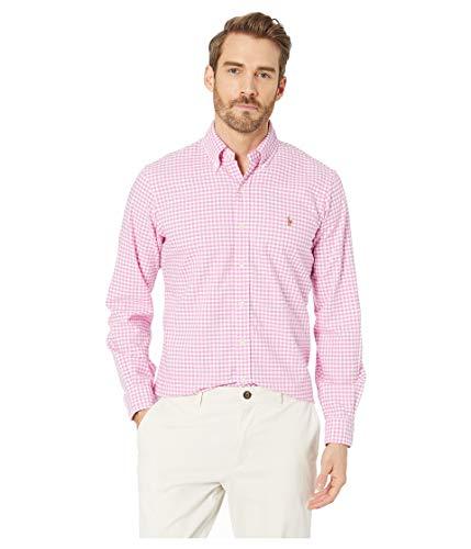 Ralph Lauren Men Solid Sport Oxford Shirt (XL, RoseCheckered)