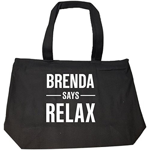 Brenda Says Relax Personalised Gift For Name - Tote Bag With Zip ()