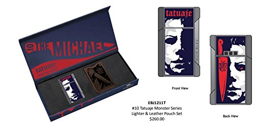 ELIE BLEU TATUAJE THE MICHAEL J-12 LIGHTER & POUCH SET LIMITED EDITION by CIGAR KING (Image #1)