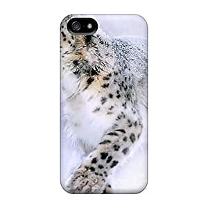 Durable Snow Leopard Painting Back Case/cover For Iphone 5/5s