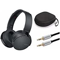 Sony XB950N1 Extra Bass Wireless Noise Canceling Headphones (Black) w/carrying case & 10ft Audio Cable