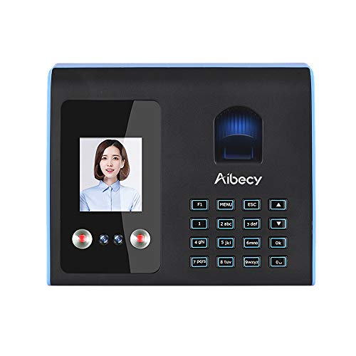 Aibecy Intelligent Attendance Machine Face Fingerprint Password Recognition Mix Biometric Fingerprint Time Clock for Employees Timeclocks for Business (Best Face Recognition Time Clock)