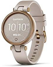 Garmin GM-010-02384-51 Lily Sport Edition GPS Smartwatch with Touchscreen Display, Rose Gold/Light Sand