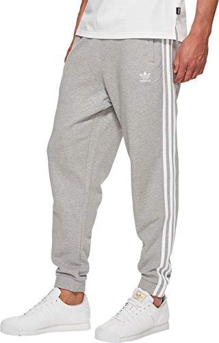 adidas Originals Men's 3-Stripes Sweatpants Medium Grey Heather X-Large 30.5