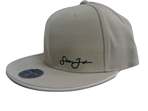 Sean John Men's Fitted Ball Cap Hat Khaki L/XL