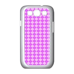 Custom Check Pattern Back Cover Case for SamSung Galaxy S3 I9300 JNS3-089