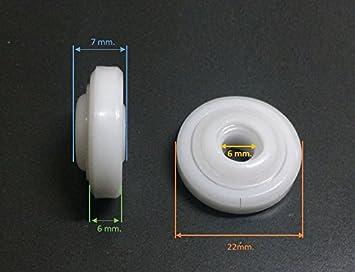 acquastilla 113536 Rodamientos para Box ducha sin roscas: Amazon.es: Bricolaje y herramientas