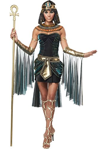 [8eighteen Sexy Egyptian Goddess Princess Cleopatra Adult Costume] (Pharaoh Adult Mens Plus Size Costumes)