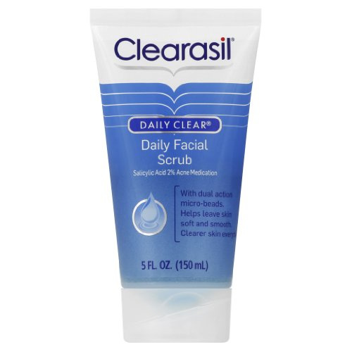 clearasil daily facial scrub