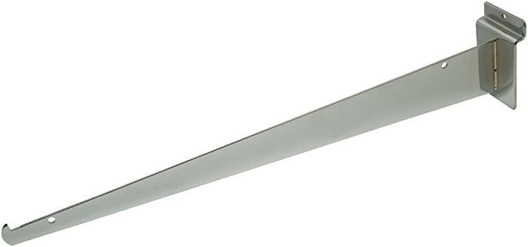 "RETAIL SLAT WALL CHROME SHELF BRACKETS 16/"" 6"