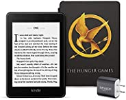 Kindle Paperwhite Bundle including Kindle Paperwhite - Wifi, Amazon exclusive The Hunger Games Cover, and Powe