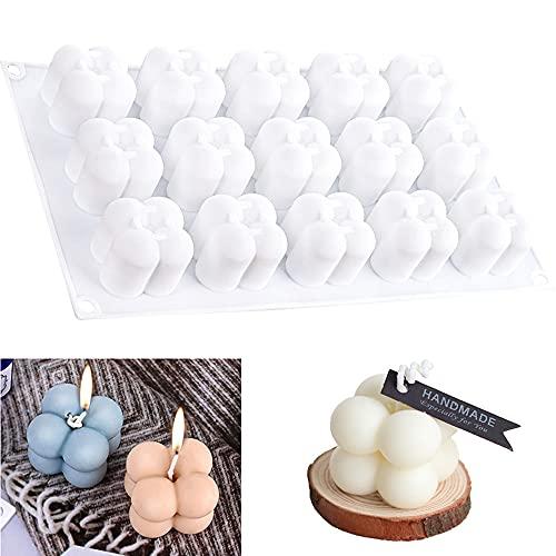 Molde de silicona para velas de cubos chicos 15 cavidades