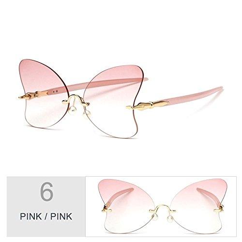 Sol Pink Gafas Sin De La Mariposa Señor Negro Decoración Vintage Gafas Femenino Gafas Perla Mujer De La Bastidor Sol De TIANLIANG04 De Rojo Pink xcEgnW0W