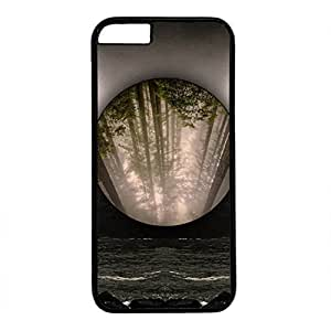 Unique Design Case for iphone 6,Fashion Black Plastic Case Back Cover for iPhone 6 with Hipster Art