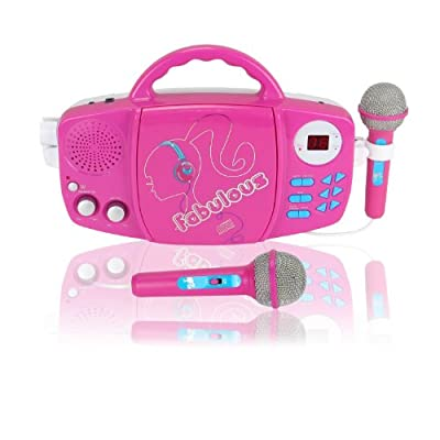Barbie Sing Along Cd Player Whitepink from Digital Blue