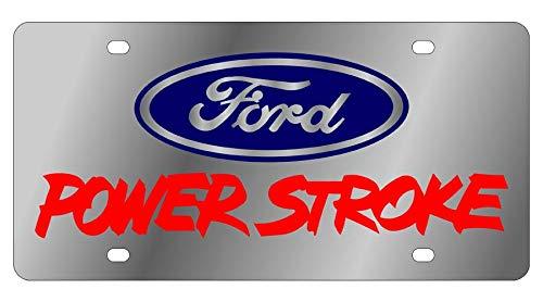 Eurosport Daytona, Inc. Stainless Steel License Plate- Ford Powertsroke L/W