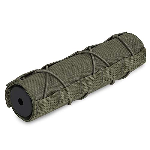 KRYDEX Tactical Airsoft Suppressor Cover 7 inch/18cm (RG)