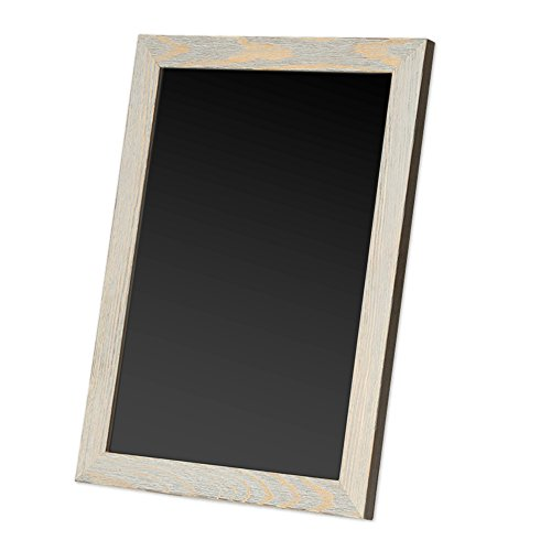 Ilyapa Magnetic Kitchen Chalkboard Sign - 12x16 Inch Graywash Framed Hanging Chalk Board ()