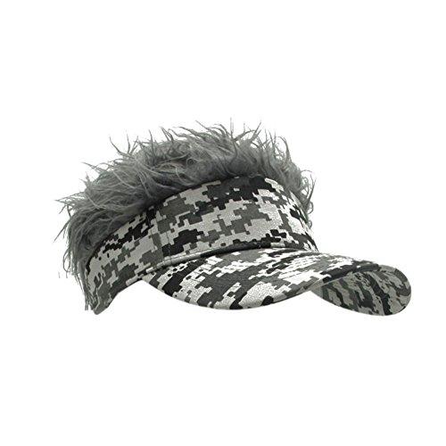 Jlong Flair Hair Sun Visor Cap Unisex Adjustable Velcro Hat Cap Visor with Spiked ()