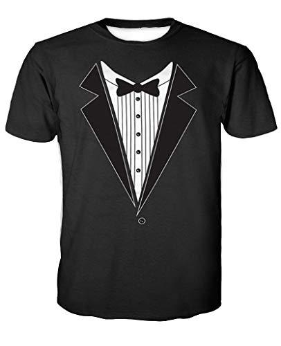 Sykooria Teen Boy's T-Shirt 3D Funny Printed American Funny Print Short Sleeve Unisex Summer Teenagers Tee Shirts