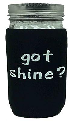 Jar-z GotShineBlackQ Mason Jar Jacket, 1 quart, Black
