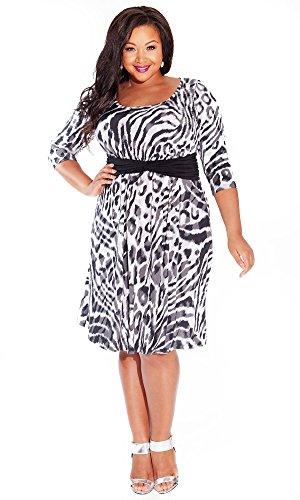 IGIGI Women's Plus Size Selby Dress in Concrete Cheetah 14/16