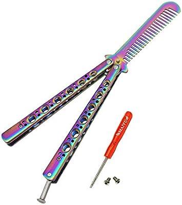 Amazon.com: MAIYU - cuchillo mariposa y cuchillo para peinar ...