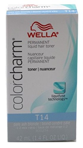 Wella Color Charm Liquid Toner #T14 Pale Ash Blonde (41ml) (2 Pack)
