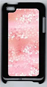 iPod 4 Case, iPod 4 Cases - Falling Flowers Custom Design iPod 4 Case Cover - Polycarbonate¨CBlack