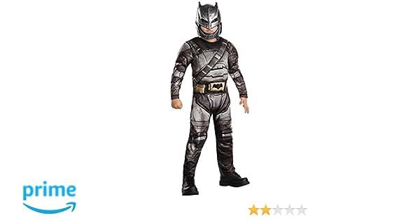 Batman Armour - Batman vs Superman amanecer de Justicia - Disfraz Infantil - Medio - 116cm - Edad 5-6: Amazon.es: Juguetes y juegos