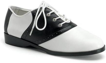 Pleaser USA Women's Saddle-50 Adult Costume Shoes Black/White - Size 6