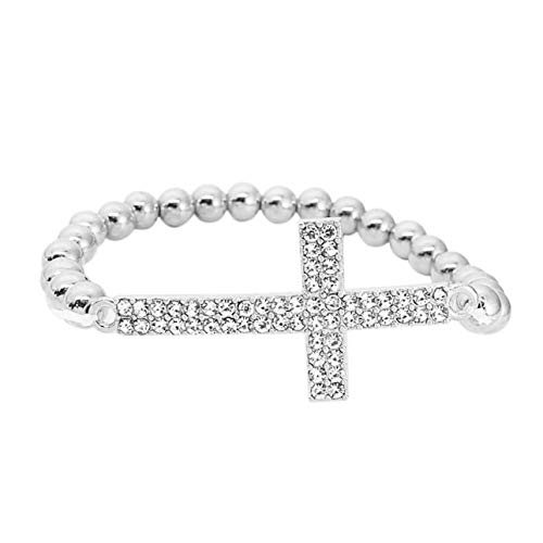 Smartlove1P Classic Fashionable Design Women Alloy Bracelet Elegant Charming Cross Shape Decorate Rhinestone Bracelet Jewelry