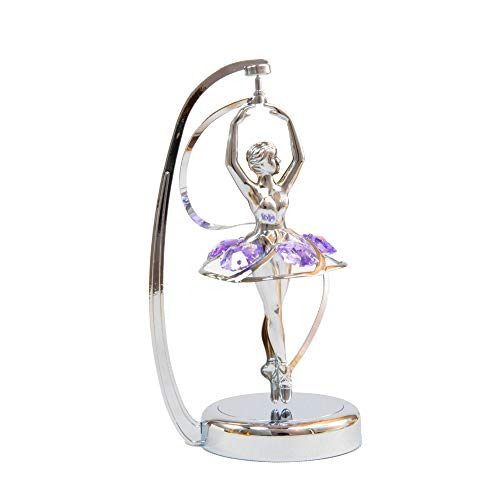 Chrome Plated Ballerina Chrome Plated Crystal - Spinner - Purple - Swarovski Crystal