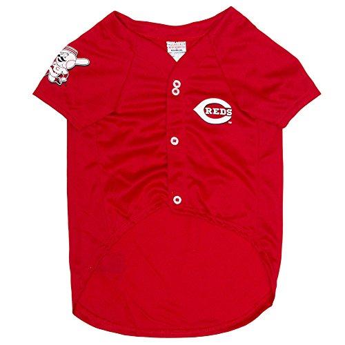 MLB Cincinnati Reds Dog Jersey, X-Large. - Pro Team Color Baseball Outfit ()