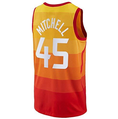 Ao Fer Nema Youth_Donovan_Mitchell_Orange_Basketball Jersey Fans Replica Game Jersey Quality Sportswear