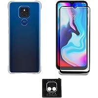 Capinha Capa Anti Quedas Motorola Moto E7 Plus + Película Vidro 3D Full 100% + Película Câmera
